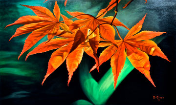 Leaves, the song of life ! 100x60 cm   2015 ( private collection)