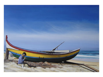 The boat and the fisher   70x50  cm  2006