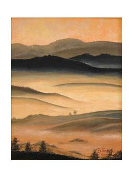 Fog  among the hills   40x50  cm   2004