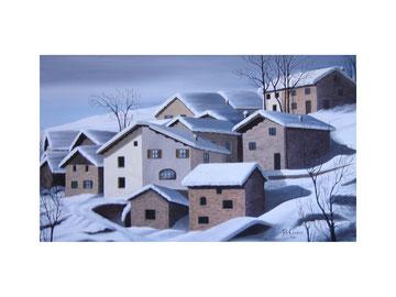 Borgo montano innevato  50x30  2006