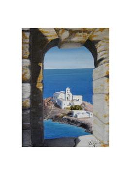 Finestra ... sull'estate a Sifnos  30x40  2005 ( Collezione privata)
