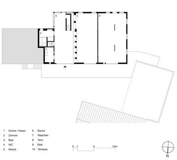 Stallumnutzung | Das verborgene Haus, Homburg: Grundriss Sockelgeschoss