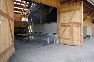 Stallumnutzung | Das verborgene Haus, Homburg: Geöffneter Tenn (Foto: Francesca Giovanelli)