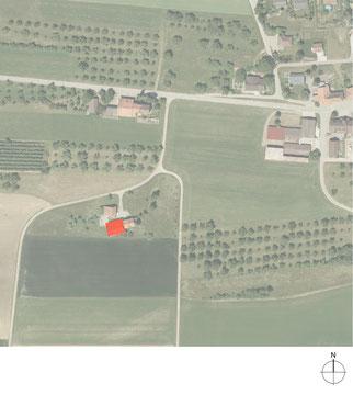 Stallumnutzung | Das verborgene Haus, Homburg: Orthofoto Situation (Quelle: Amt für Geoinformation, Thurgau)