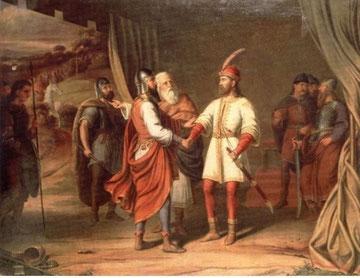 J.F. Mucke, Savez Ljudevita (desno) sa Slovencima