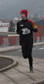 Trail de Volvic, Mathieu Delpeuch, samedi 2 mars 2013