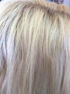 Das Ergebnis danach Die Haare wurden einfach mit den Händen trocken geföhnt. Die Haarstruktur ist deutlich geschmeidiger , glatter und vom Ansatz viel ruhiger. Das wäre vorher nicht möglich gewesen. Wir sind schon begeistert. Aber weiter geht's...