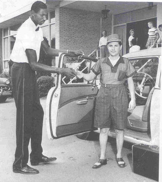 Wilt Chamberlain working as Kutsher's Bellhop (Courtesy Mark Kutsher)