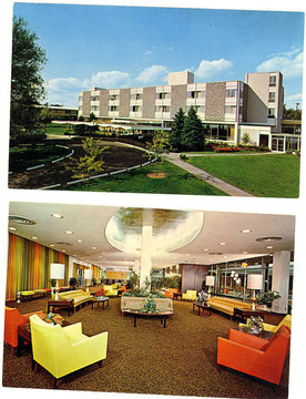 Kutsher's Exterior & Interior Lobby Postcard (Courtesy Mark Kutsher)