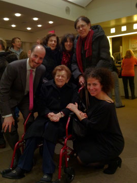Directors Rosenberg & Laskow with Helen Kutsher at Lincoln Center Premiere