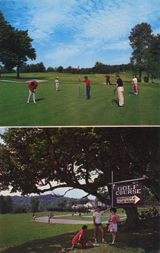 Kutsher's Golf Course & Skiing Postcard (Courtesy Mark Kutsher)