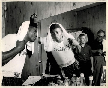 Floyd Patterson at Kutsher's in 1958 (Courtesy Howard V. Sann)