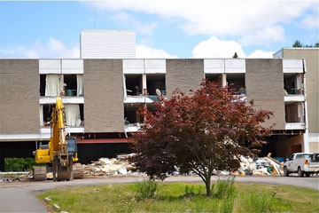 Kutsher's Country Club Demolition in Progress (July 2014)