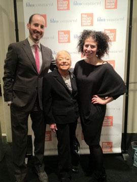 Directors Rosenberg & Laskow with Celia Duffy at Lincoln Center Premiere