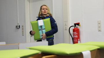 Ergonomisches Sitzkissen Bürostuhl Pad: FLOWMO an der FU Berlin mit Anthea Dölle