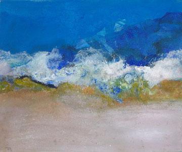Strandgut 100 x 120 cm Acryl auf Leinwand