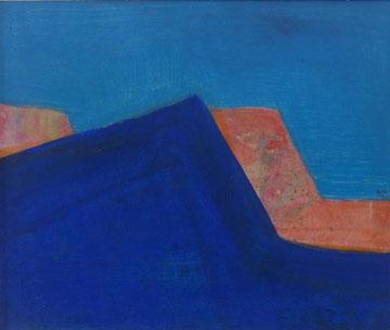 Blaues Schattenbild , 50x60cm, Acryl auf Leinwand