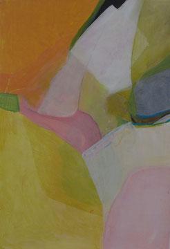 Frühlingsbild I  110 x 75 cm Acryl auf Papier