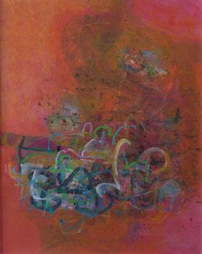 Geysir, 100x80cm, Acryl auf Leinwand
