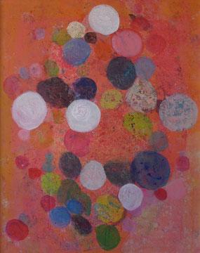 Seifenblasen, 100x80, Acryl auf Leinwand
