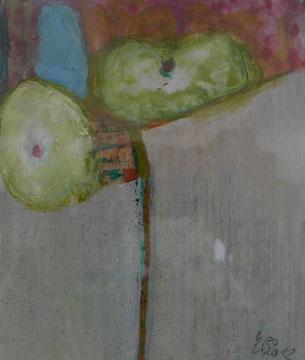 Kleine Gouache,13 x 20 cm, Acryl auf Papier