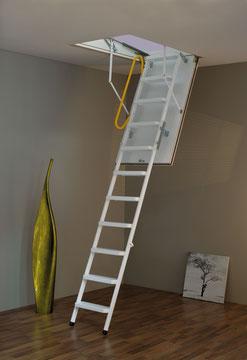Ecosteel escalier escamotable avec rampe