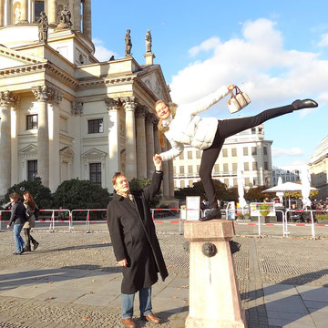 Annelie in Berlin, Gendarmenmarkt, November 2014.