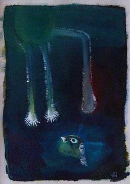 Kleiner Vogel | 2019 |  Gouache und Tusche | 30,3 x 21 cm