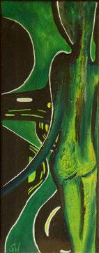 ohne Titel | 2019 | Öl, Gouache, Acryl | 35 x 13, 7 cm
