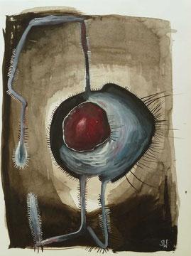 Auge | 2019 |  Gouache und Tusche | 24 x 32 cm