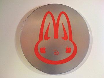 Laurent Gugli-Mic Mac 65x65 cm Stencil sur metal