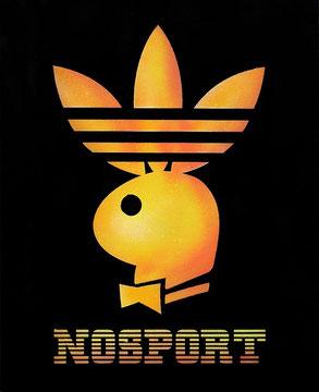 Laurent Gugli-Nosport-Airspray/Stencil/Canevas/73x60 cm