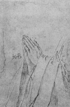Studienblatt: Gefaltete Hände