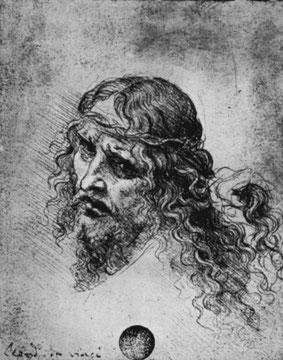 Kopf eines dornengekrönten Christus