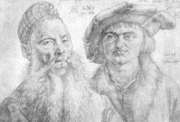 Porträt des Paul Dopler und des Martin Pfinzig