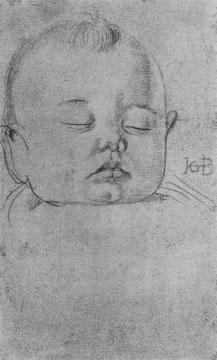 Studie zu einem etwa einjährigen Knaben, Kopf [1]