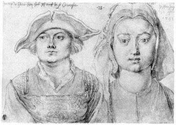 Porträt des Marx Ulstat und die schöne Jungfrau in Antwerpen