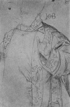 Studie für Hl. Stephanus: Oberkörper