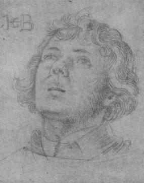 Studie für Hl. Stephanus: Kopf