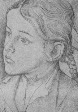 Studienblatt: Kopf eines Mädchens [1]