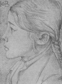 Studienblatt: Kopf eines Mädchens [2]