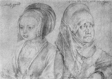 Mädchen in kölnischer Tracht und Agnes Dürer
