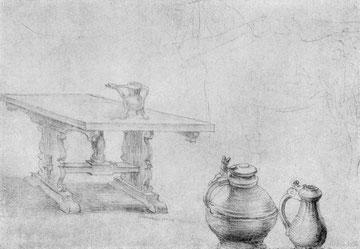 Tisch und Kannen