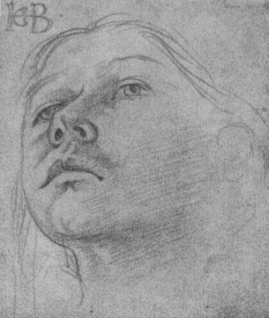 Studienblatt: Kopf eines Mädchens [4]