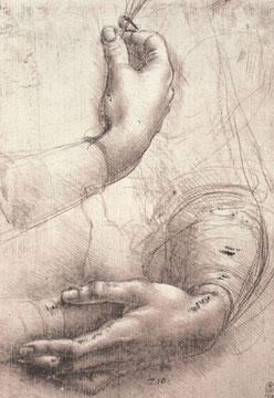Studie von Frauenhänden