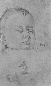 Studie zu einem etwa einjährigen Knaben, Kopf [2]