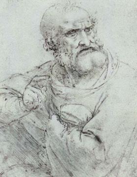 Brustbild des Hl. Petrus