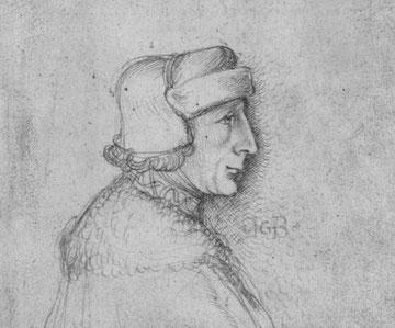 Profilporträt eines bartlosen Herren