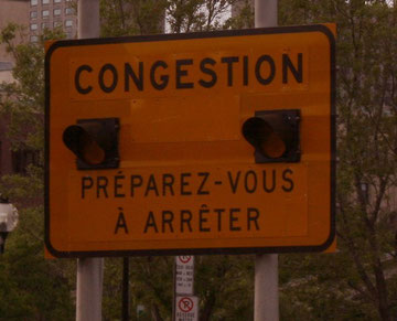 Congestion = embouteillage - bouchon