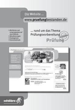 SW-Anzeige für die Umschlaginnenseite eines Buches